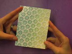 Brayering with Embossing Folders - YouTube