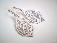 Vintage Bohemian Filigree Earrings. Silver Chandeliers. Paisley Earrings. Boho Chic Earrings. Statement Earrings. Bridal Chandeliers. Gift.