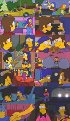 "The Simpsons - The Way We Was "" I'm sure we were meant to be together. Simpson Wallpaper Iphone, Cartoon Wallpaper Iphone, Aesthetic Iphone Wallpaper, Wallpaper S, Simpsons Funny, Simpsons Art, O Simpson, Futurama, Homer And Marge"