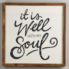 "Add a little beauty and inspiration to your room with this perfectly distressed painted wood sign featuring the quote ""It is well with my soul"", which can sit or be hung."