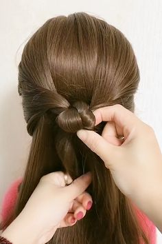 Hair Ponytail Styles, Front Hair Styles, Medium Hair Styles, Simple Hairstyles For Long Hair, Hairdo For Long Hair, Hairstyles Videos, Hair Videos, Braided Hairstyles, Hair Style Vedio