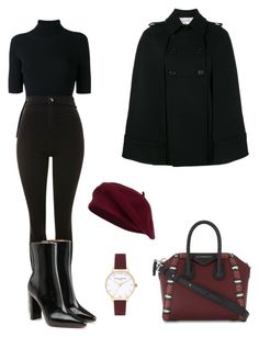 """Outfit"" by lilyhastings98 on Polyvore featuring moda, Valentino, Topshop, Vetements, Givenchy ve Olivia Burton"