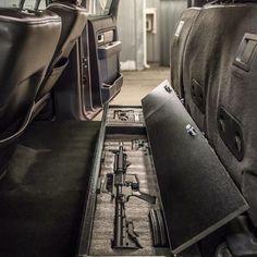 Ideas Truck Accessories Storage For 2019 Truck Storage, Gun Storage, Seat Storage, Tactical Truck, Tactical Gear, Tactical Life, Cx 500, Hidden Gun, Weapon Storage