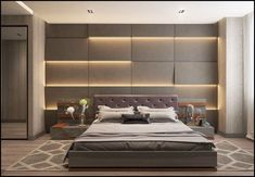 Get bags of inspiration for a modern bedroom design with this massive gallery of bedroom decor ideas, tips, tricks and modern bedroom accessories. Luxury Bedroom Design, Modern Bedroom Accessories, Luxurious Bedrooms, Modern Bedroom, Small Bedroom, Bedroom Wall, Interior Design, Latest Bed, Bedroom Headboard