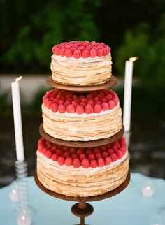 crepe cake from Cannon Green, Charleston, SC Wedding Inspiration - french desserts, crepes