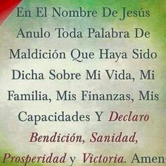 Oración SANACION God Prayer, Prayer Quotes, Daily Prayer, Bible Quotes, Qoutes, Spanish Prayers, Coaching, Beautiful Prayers, Catholic Prayers