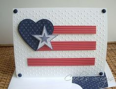 CAS, Seeing Stars, Military - Stars, PPA 99, Red, White and Blue, Carla's Scraps