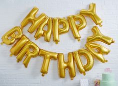 Happy Birthday Foil Balloon Bunting