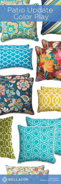 Shop Indoor/Outdoor Pillows and Update Your Patio at http://www.bellacor.com/