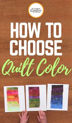 Have you ever gotten ready to start a new quilting project and been unsure of which colors to use? Karen Gillis Taylor teaches you a simple tip for choosing colors for your next quilt. She likes to create and save swatch color palettes in various scales. Learn how to choose quilt colors for your next project with this easy-to-follow instructional video from National Quilters Circle.