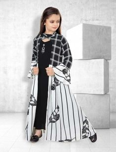 Buy 1 to 16 year Kids Salwar Kameez Online. Shop Online salwar kameez for kids in Dhoti, Palazzo, Anarkali style. Baby Girl Dresses Fancy, Baby Girl Dress Patterns, Baby Dress Design, Baby Clothes Patterns, Girls Dresses, Pakistani Kids Dresses, Kids Salwar Kameez, Kids Frocks Design, Kids Gown