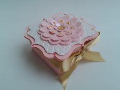 Caixa Flor Elegante Scrap 3D