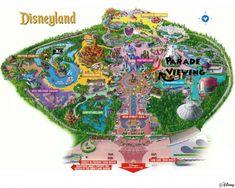 Disneyland California Map, Pictures & Information First Disneyland, Disneyland Map, Disneyland California, Disneyland Resort, Disneyland Orlando, Original Disneyland, Disney Map, Disney Love, Disney Parks