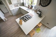 Kitchen of the week… Located in Burgess Hill, West Sussex, showcasing the Bianco Carrina - Rock and Co Granite Ltd