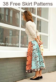 38 Free Skirt Patterns - for when I learn to sew
