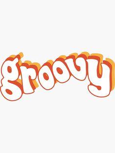 Pegatina 'Groovy Retro naranja y amarillo' de social-dilemma - Modern 70s Aesthetic, Orange Aesthetic, Rainbow Aesthetic, Aesthetic Images, Aesthetic Vintage, Aesthetic Pastel, Aesthetic Bedroom, Unicornios Wallpaper, Orange Wallpaper