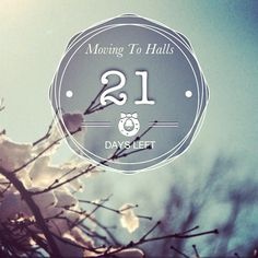 Only 21 days until I move up north :D