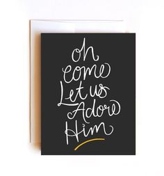 Let Us Adore Him Card  Merry Christmas Card  by Floating Specks