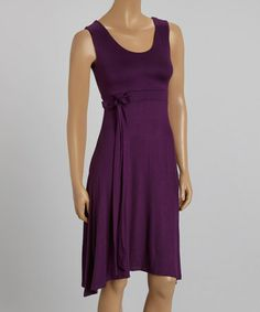 Another great find on #zulily! Magenta Tie-Waist Sleeveless Dress #zulilyfinds