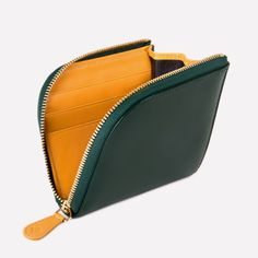 Ettinger London – Luxury Leather Goods –  Bridle Hide Curved Wallet with Key Strap in Green