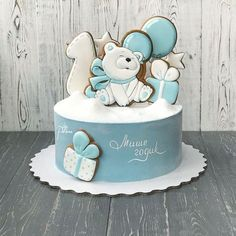 Birthday cake decorating buttercream powdered sugar Ideas for 2019 Baby Shower Cakes For Boys, Baby Boy Cakes, Girl Cakes, Royal Icing Cakes, Buttercream Cake, Baby Birthday Cakes, Birthday Cookies, Drop Cake, Cake Cookies