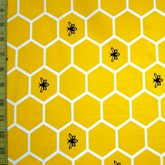 Yellow Honeycomb Print Spandex Fabric, x Swimsuit Fabric, Bee Party, Roller Derby, Spandex Fabric, Honeycomb, Headbands, Doll Clothes, Print Ideas, Trending Outfits