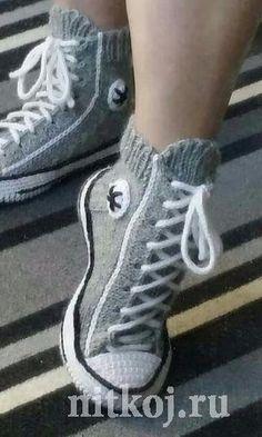 62 ideas crochet mittens slipper socks for 2019 Crochet Boots, Crochet Mittens, Knitted Slippers, Slipper Socks, Knitting Socks, Baby Knitting, Crochet Baby, Knit Crochet, Free Knitting
