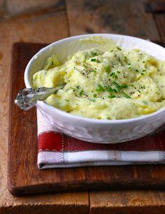 garlic and chives mashed potatoes