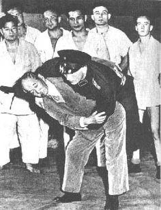 Jigoro Kano demonstrating Judo with a policeman in Berlin