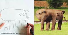 Dad Turns His Son's Drawings Into the Most Hilarious Reality Ever