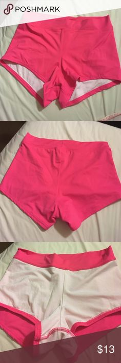 Swim shorts Cute pink shorts to wear over bikini bottom! Very light wear. Size 10. VENUS Swim Bikinis