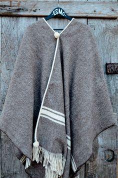 Image of El Solitario Poncho Mx Jersey, Wool Poncho, Merino Wool, Nike Jacket, Athletic, Jackets, Shopping, Fashion, Handmade Clothes
