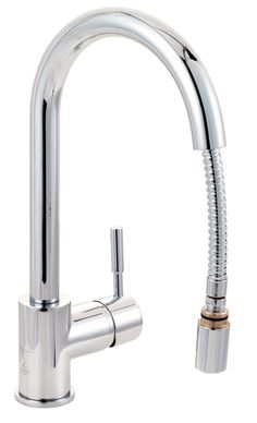 Cooke & Lewis Saru Chrome Effect Pull Out Tap | Departments | DIY at B&Q