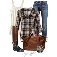 """Pretty in Plaid"" by orysa on Polyvore"