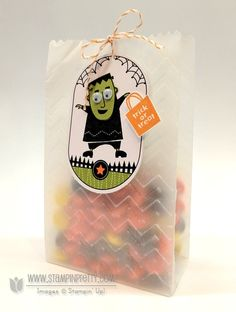 Stampin up demonstrator blog video tutorial halloween ghoulish googlies treat bags; Mary Fish