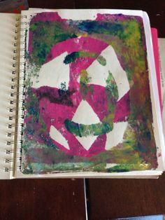 Great Gelli Print from www.brilliantlybri.com!