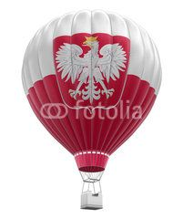 Hot Air Balloon with Polish Flag (clipping path included)