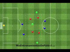 Ejercicio de Fútbol de contraataque formado por 8 jugadores, 4 contra 4, un comodín y 1 portero - YouTube