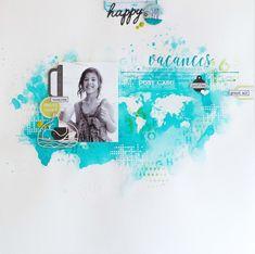 Le scrap d 'Opsite: Nouveautés Coup de coeur chez Florilèges Design: une page de vacances