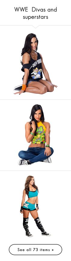 """WWE  Divas and superstars"" by midnightrebel ❤ liked on Polyvore featuring aj lee, wwe, wwe divas, people, wwe figures, paige, home, kitchen & dining, eva marie and superstars"