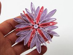 Quilled Snowflake Handmade Paper Quilling Art Cute Home