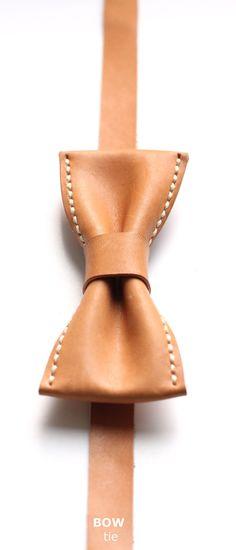 Leather bowties for gentlemen.