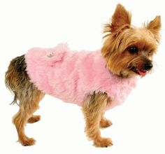 The name says it all! The Ruff Ruff Couture ® Fabulous Coat is made from luxurious faux rabbit, lined with soft velour and finished with custom-designed crystal buttons. Also available in black.