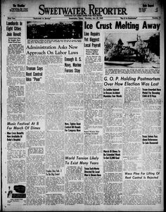 Daily newspaper from Sweetwater, Texas that includes local, state, and national news along with advertising.