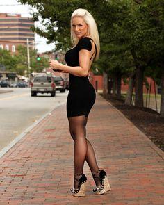 Carrie LaChance Heels | Carrie LaChance Autographed 8X10 Photo COA Cork Wedges #06516