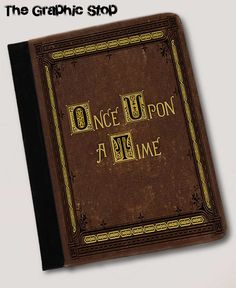 Once Upon A Time Fairytale Book Inspired Folio Case. iPad 2/3/4, iPad Air, iPad Air 2 or iPad Mini  canvas & leather Gear for ipad cases