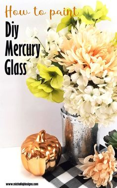 Learn how to paint DIY mercury glass to make a Dollar Tree vase into high end home decor for any occasion or season.  #diymercuryglass #dollartreecrafts #glasscrafts Dollar Tree Vases, Dollar Tree Gifts, Dollar Tree Fall, Dollar Tree Store, Looking Glass Spray Paint, Krylon Looking Glass, Tree Crafts, Diy Home Crafts, Decor Crafts