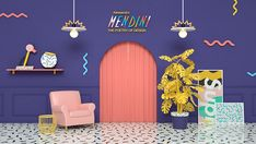 This is my second personal project 'The Poetry of Design''The Poetry of Design' is the exhibition of designer 'Alessandro Mendini' which is open in Korea in I was impressive from the exhibition at that time, so I decided to make motion graphic ab… Spa Design, Cafe Design, Store Design, Interior Design, Small Apartment Design, 3d Home, 3d Artwork, Retail Interior, Scenic Design