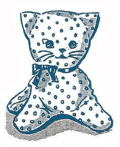 This adorable kitten softie is part of the Kitty Family Vintage Toy Animal Sewing Pattern that's been very popular in my Etsy shop for so...