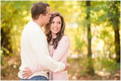 Fall Engagement pictures at Bennetts Creek park in Suffolk Virginia | yellow leaves and bokeh | Audrey Rose Photography